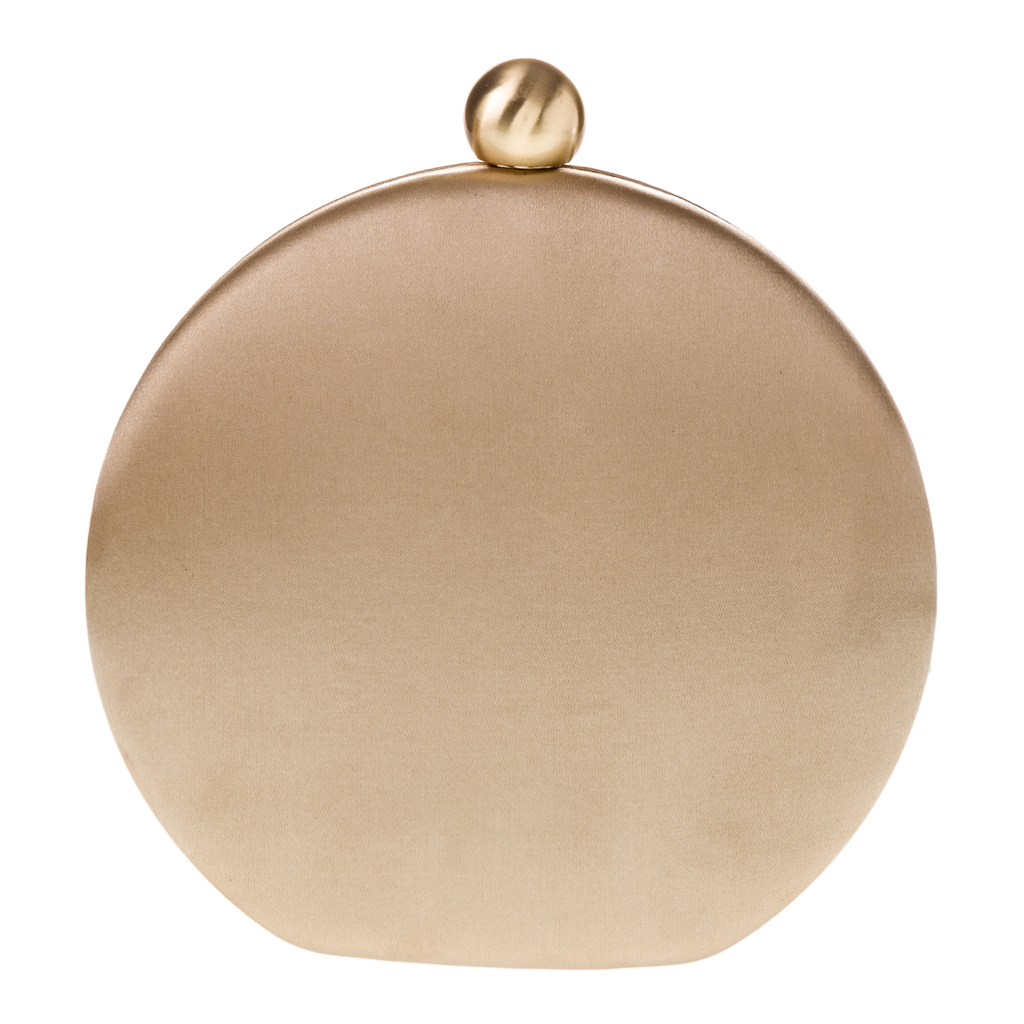chic clutch satin perfect gold circle