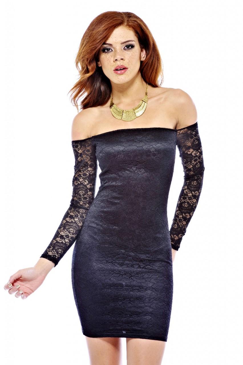 a663e0f03d12 sexy φόρεμα δαντέλα έξω ώμοι μακρύ μανίκι