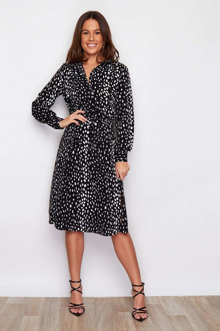 versatile shirt dress Clara 2 black & white