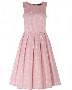 cute vintage φόρεμα sweet candy pink πουά