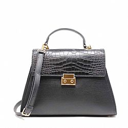 parisian chic croco business tote τσάντα