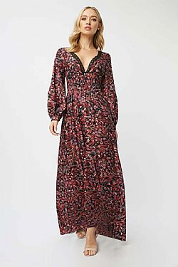 boho celeb luxe paisley backless φόρεμα Sissy