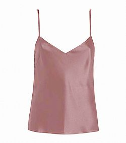 simple clean cut satin cami top σε σάπιο μήλο