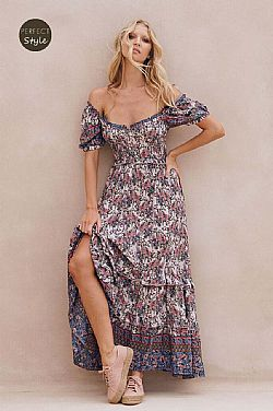 bohemian chic cool 70s romantic φόρεμα Clemence
