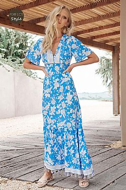 boho luxe φόρεμα turqoise Riviera dream