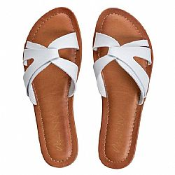casual chic flat white sandal