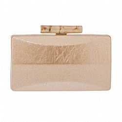 minimal cracked leatherette clutch σε χρυσό