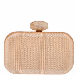 luxe golden textured leatherette clutch