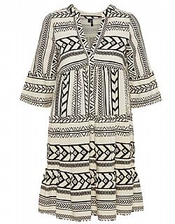 boho must have Aztec tunic Vero moda cream/black