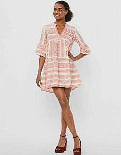 boho must have Aztec tunic Vero moda cream/pink