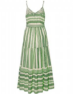 organic cotton green boho chic φόρεμα Vero moda