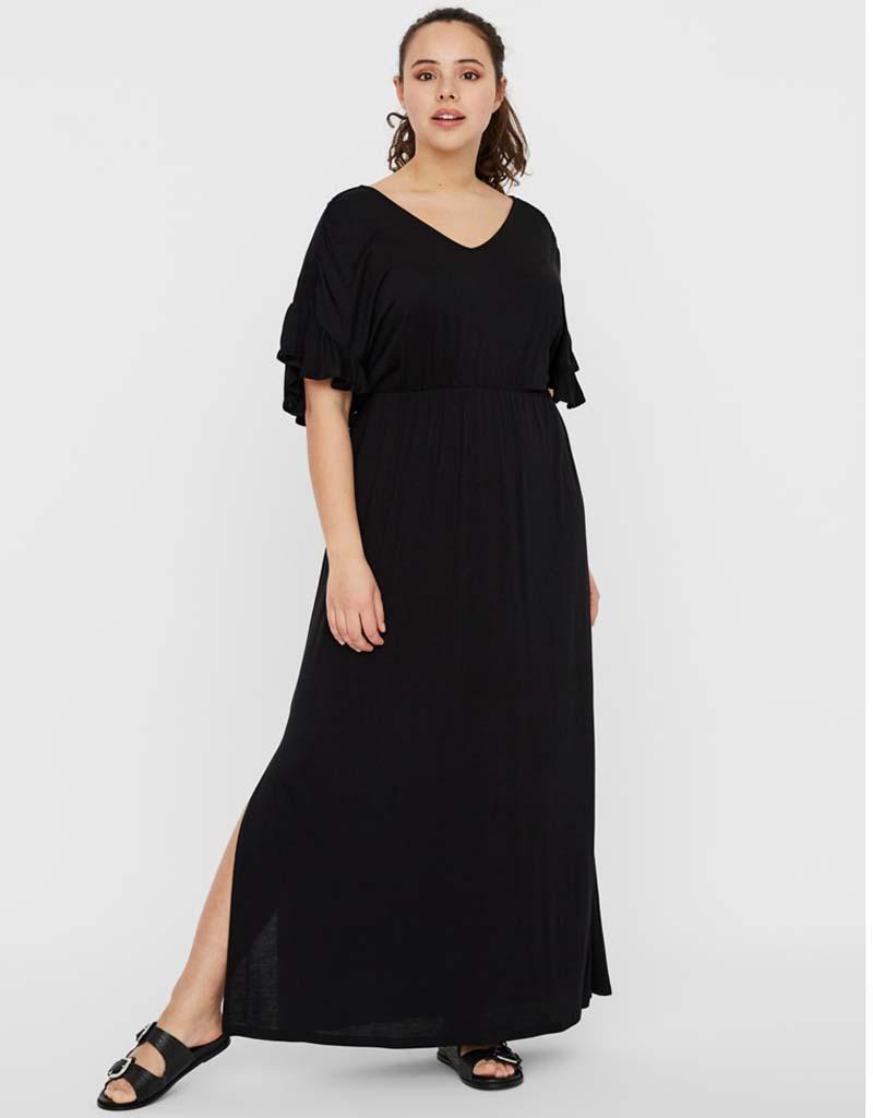 plus size summer basic viscose φόρεμα Vero moda