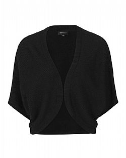 casual πλεκτό bolero piquet cotton plain