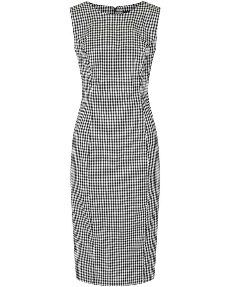 classic vintage pencil φόρεμα πτι καρώ Gaby