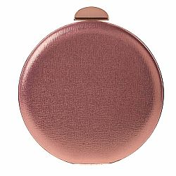 τσαντάκι round clutch Ivy rose gold