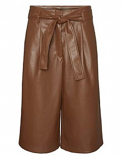 must have ζυπ κυλότ Vero moda leatherette Honey brown