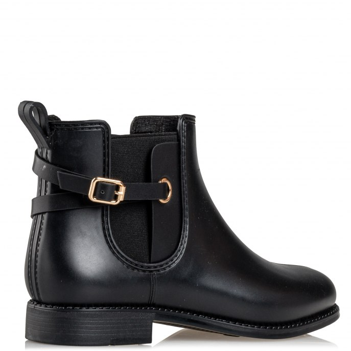 rainy black matte Envie booties