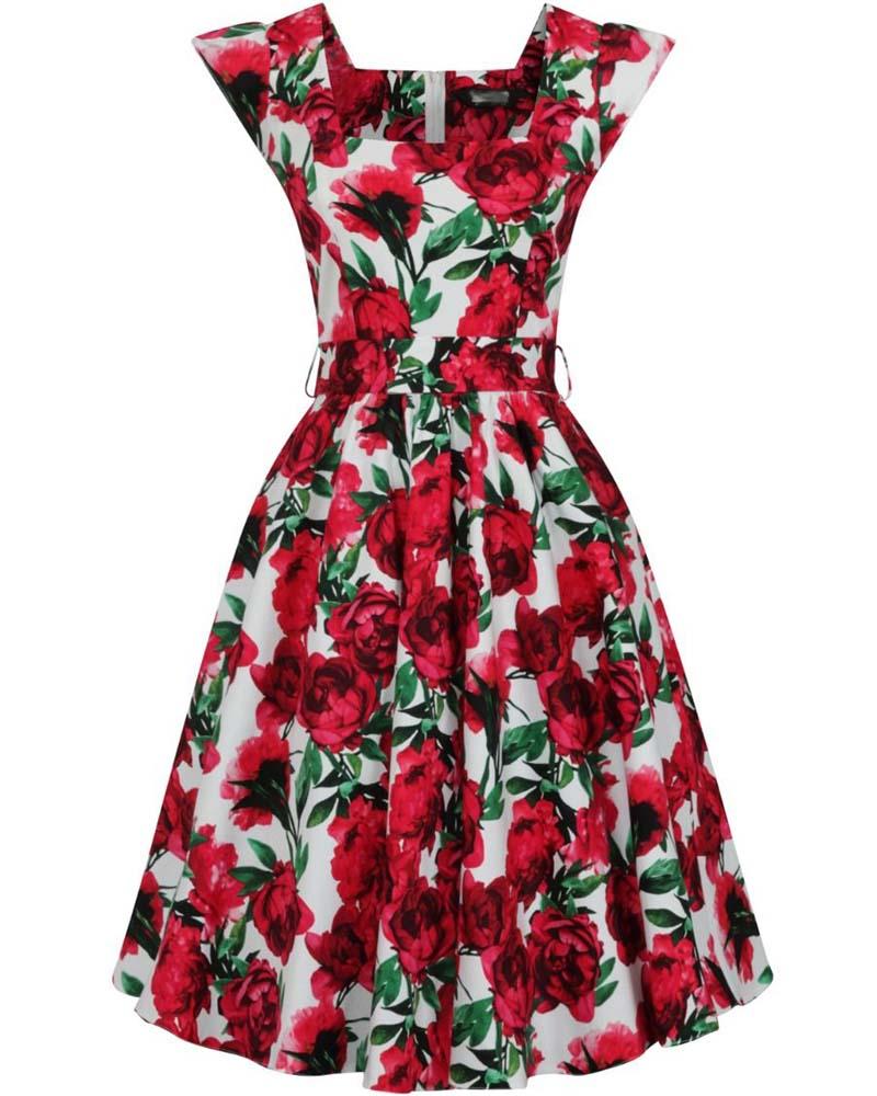 vintage 50s φόρεμα Rosa rose