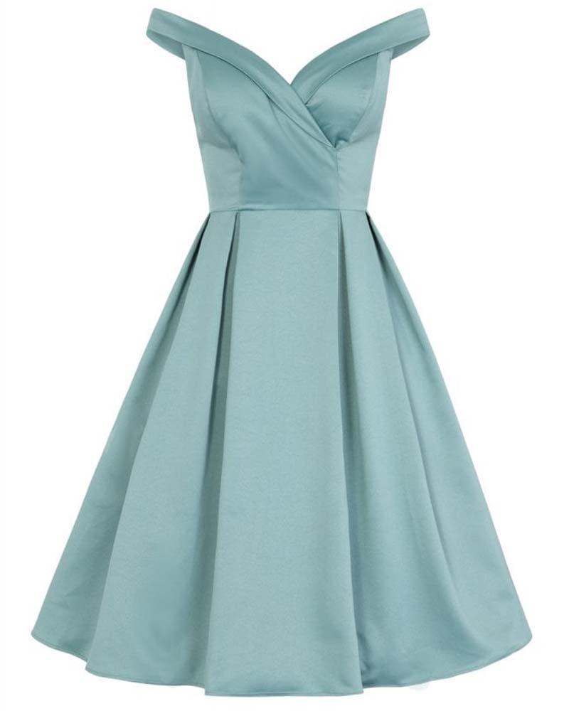 vintage princess prom σατέν φόρεμα Amery
