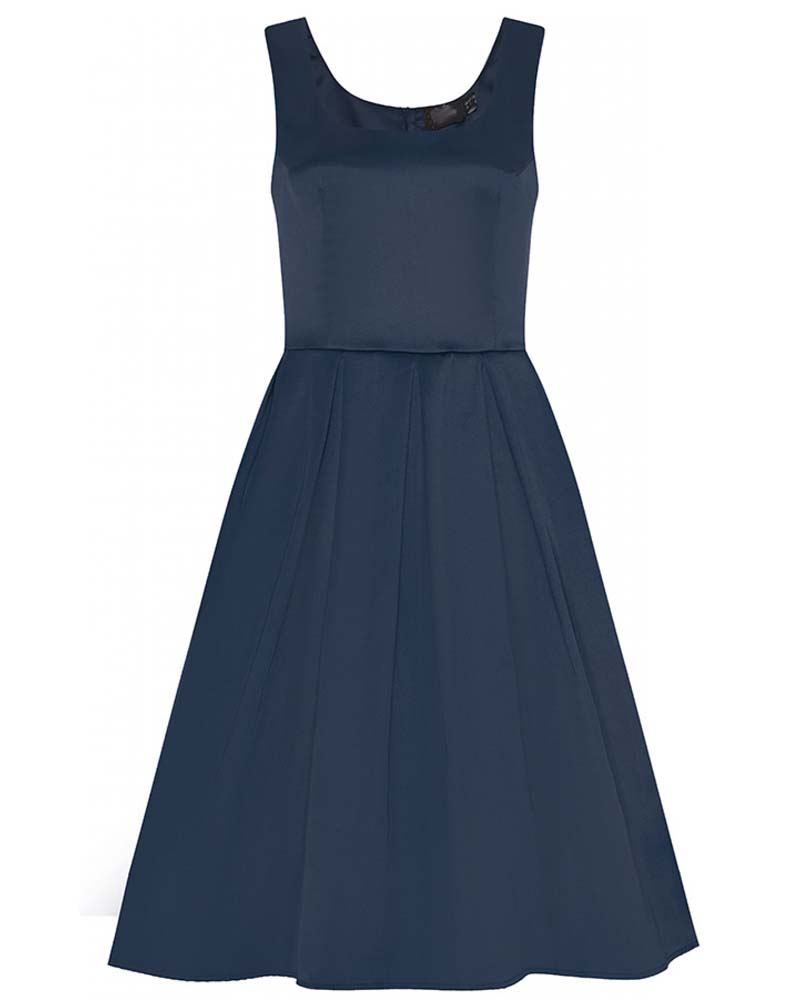 vintage classic φόρεμα Amande satin navy