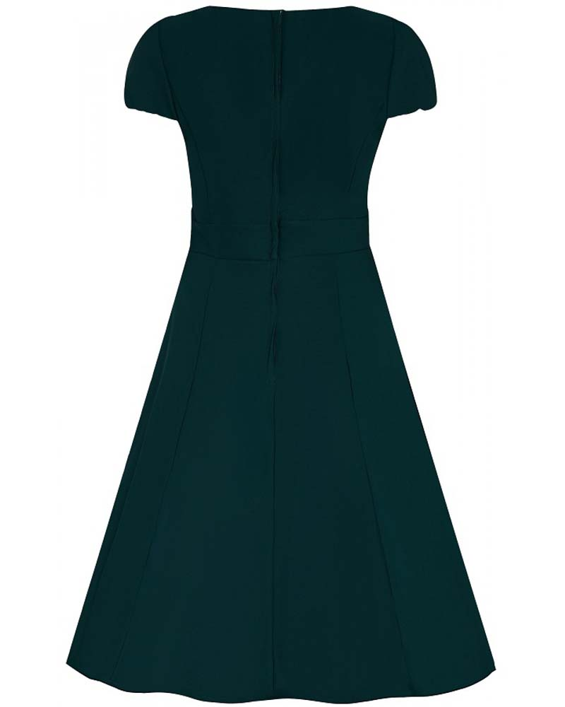 vintage φόρεμα chic Claudia dark green