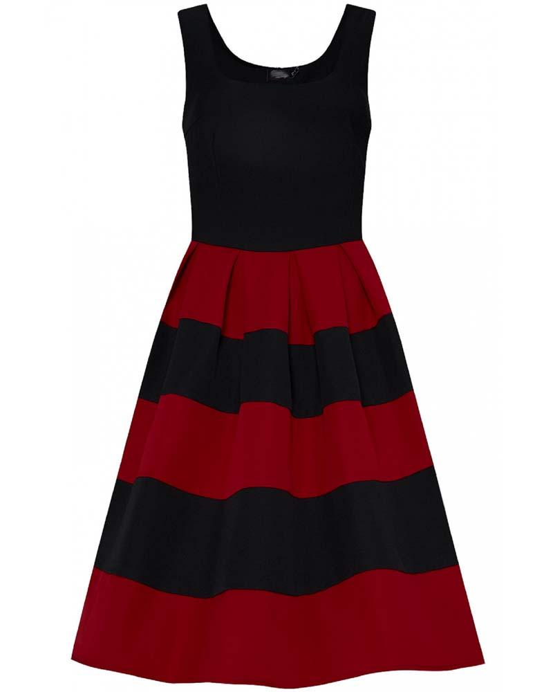 vintage ριγέ 50s φόρεμα Anna chic