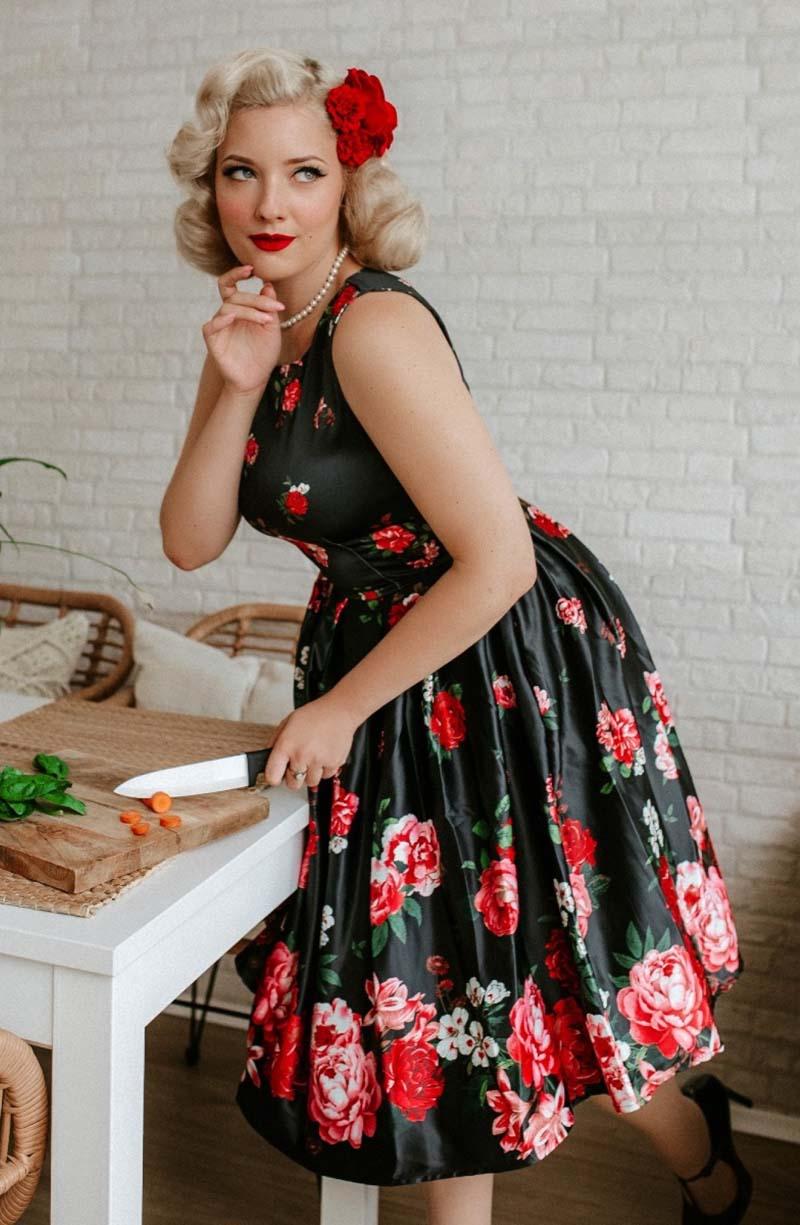 vintage 50s φόρεμα Rosa mia