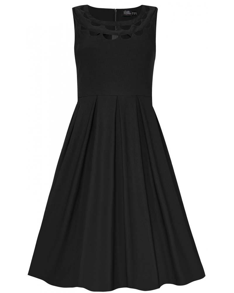 vintage cut out ντεκολτέ φόρεμα Ella black