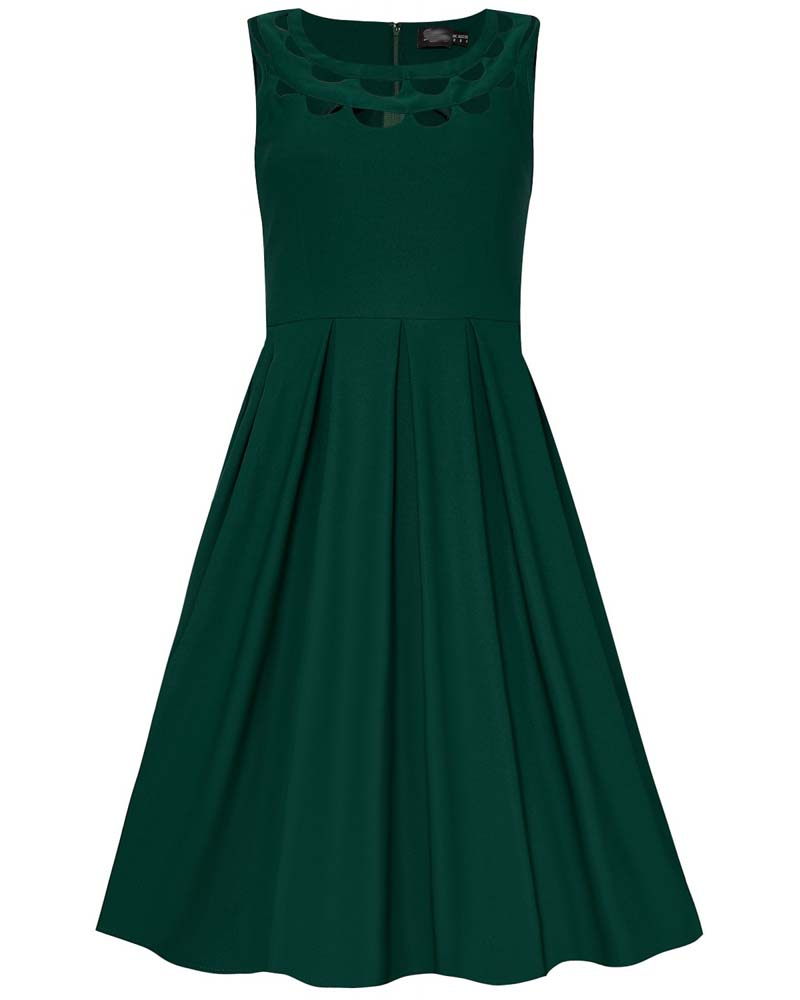 vintage cut out ντεκολτέ φόρεμα Ella green
