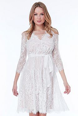 bridal romantic fine lace φόρεμα Dorothea
