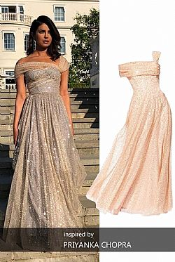 princess one shoulder paillette maxi φόρεμα Felicia champagne