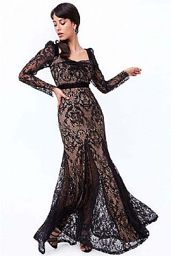 grand fine lace φόρεμα mermaid Soraya maxi