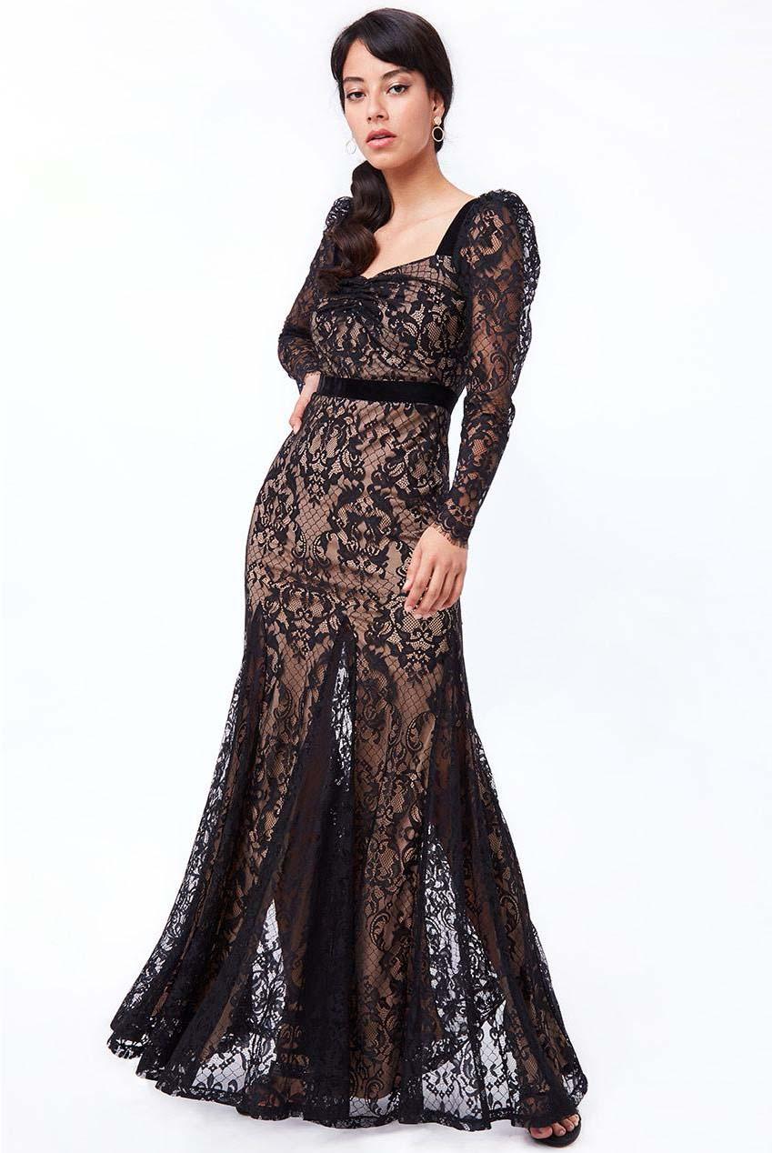 grand fine lace φόρεμα mermaid Soraya maxi