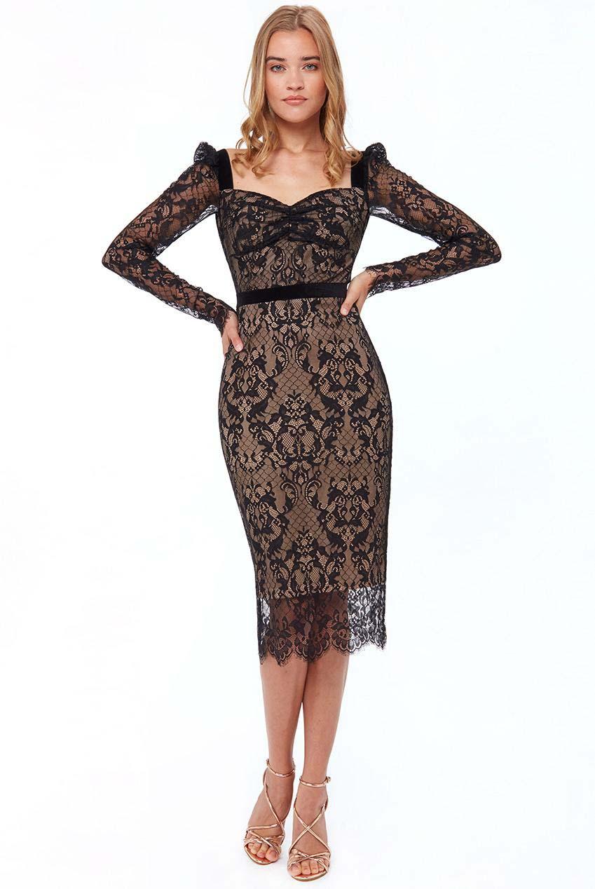 grand fine lace φόρεμα Soraya midi