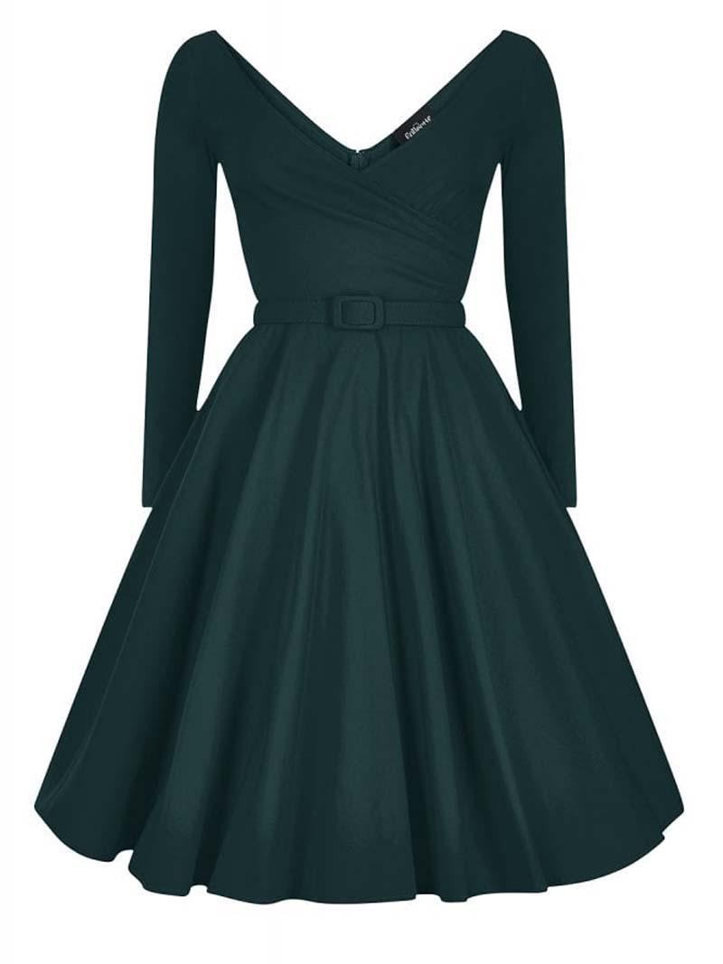 Belle Femme 50s vintage φόρεμα forest green
