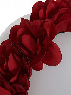 retro chic flower crown στέκα μαλλιών red