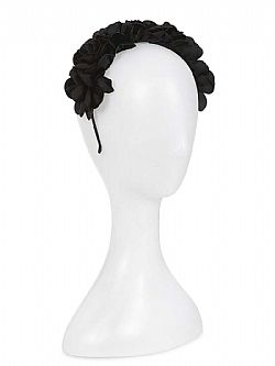 retro chic flower crown στέκα μαλλιών black