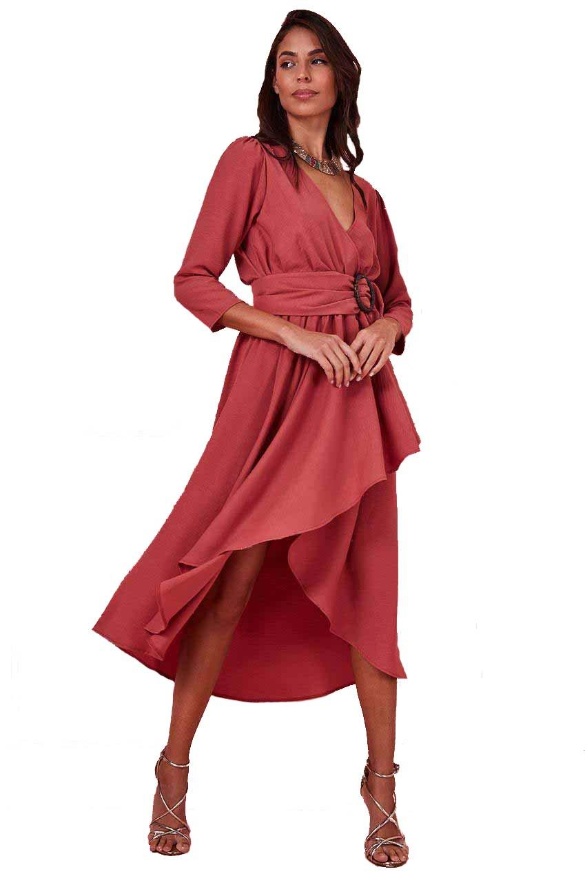 high low safari chic φόρεμα vintage Mojave vintage rose