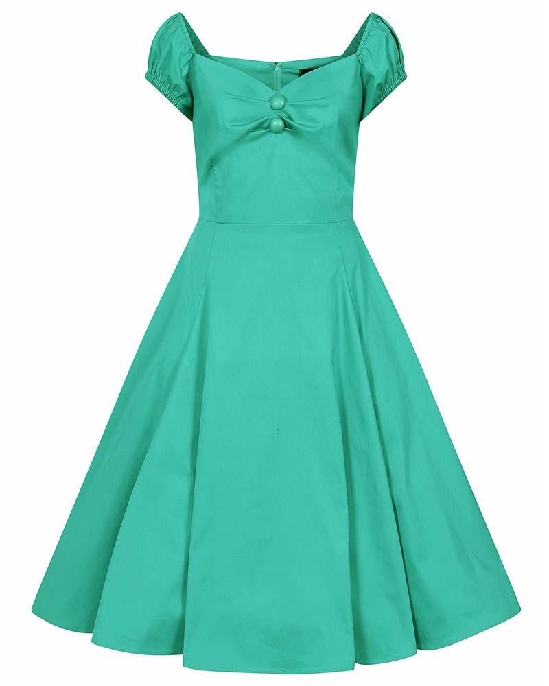 vintage 50s classic φόρεμα Mandy teal