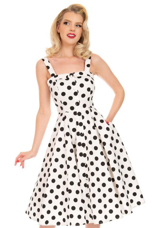 vintage cute 50s πουά φόρεμα Priscila