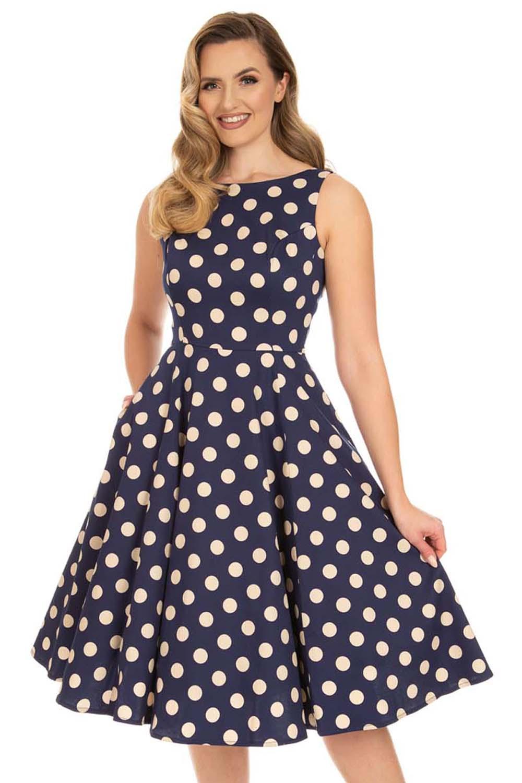 vintage πουά φόρεμα Mia swing