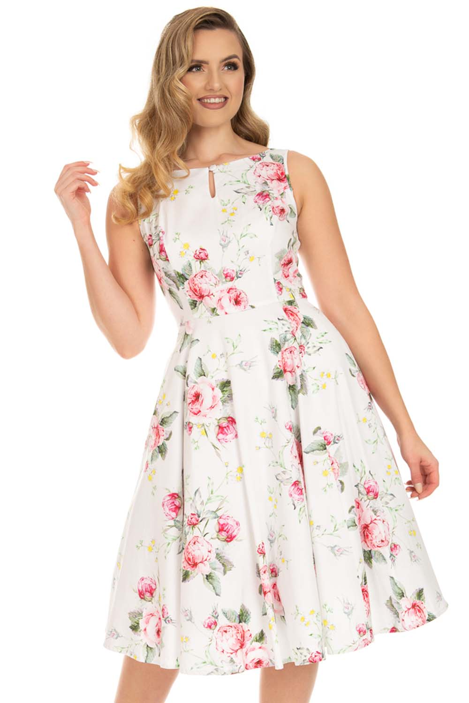 vintage romantic bouquet φόρεμα Anna Maria