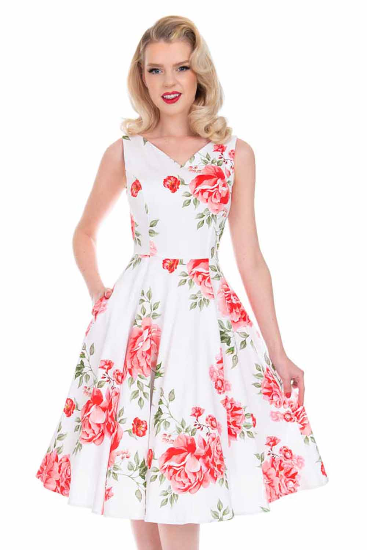 vintage romantic floral φόρεμα Nina