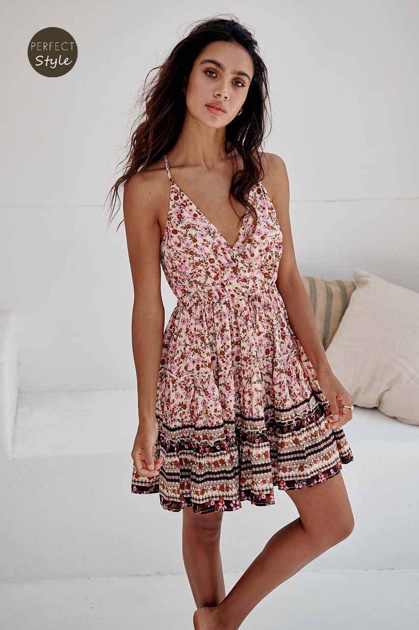 boho chic petite floral φόρεμα Madlene mini