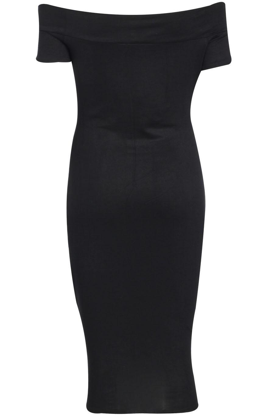 982817369b4d celebrity basic φόρεμα bardot έξω ώμοι